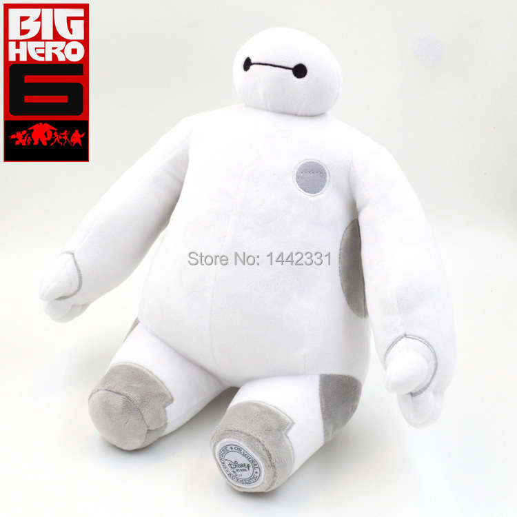 2015 27cm New Big Baymax Sit Hero Plush Doll Stuffed Toys brinquedos Small 6 retail bag Gift White - Toys!Daddy! store