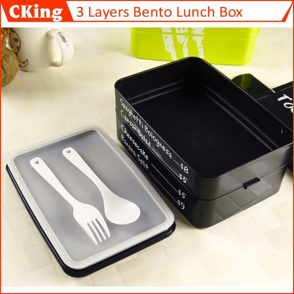 1pcs creative lunch box portable food grade pp 3 layers bento 1910ml food container microwave. Black Bedroom Furniture Sets. Home Design Ideas