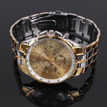 NEW 2013 fashion gold watch dial plate Quartz Hand sports luxury brand  watch Men stainless steel quartz WristWatches<br><br>Aliexpress