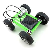 Solar DIY Gadget Car Mini Puzzle IQ Educational Toy(China (Mainland))