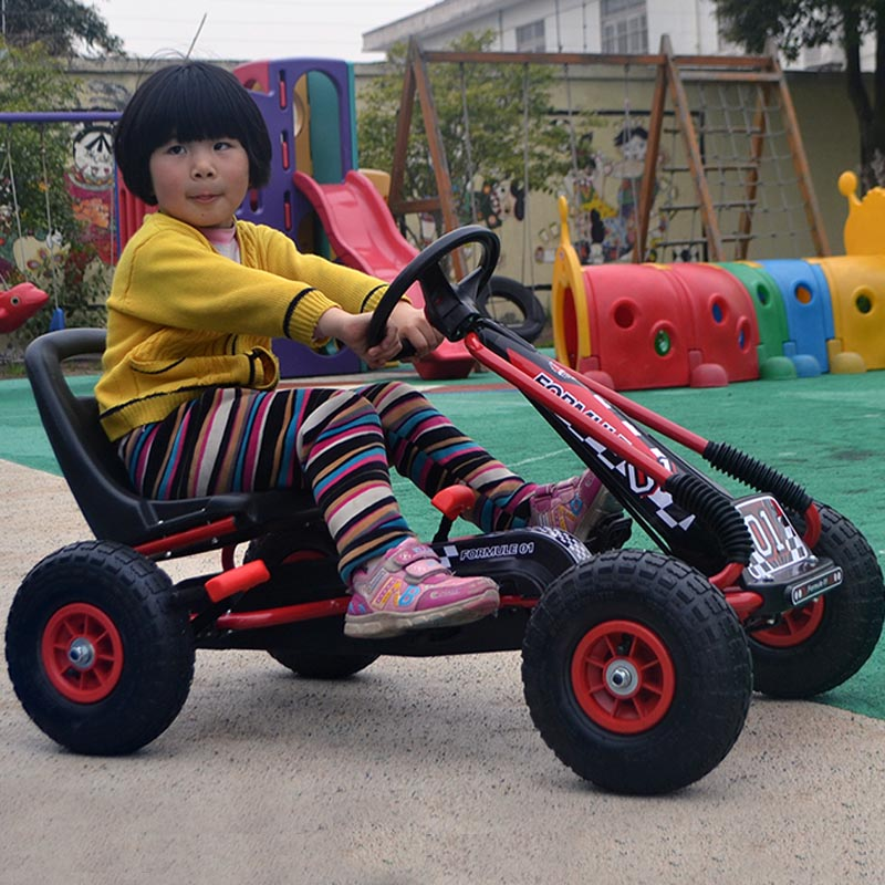 Kids outdoor fun ride on cars electric children 4 wheel pedal karts toy car pneumatic tire Children's bicycles child beach car(China (Mainland))