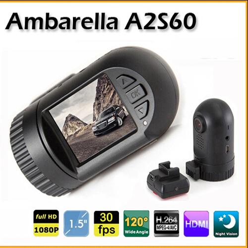 Big Promotion 100% Original Mini 0801 0803 Full HD Video Recorder Car Camera DVR Ambarella A7 A2 1080P 1296P SOS+ GPS/8GB(Hong Kong)