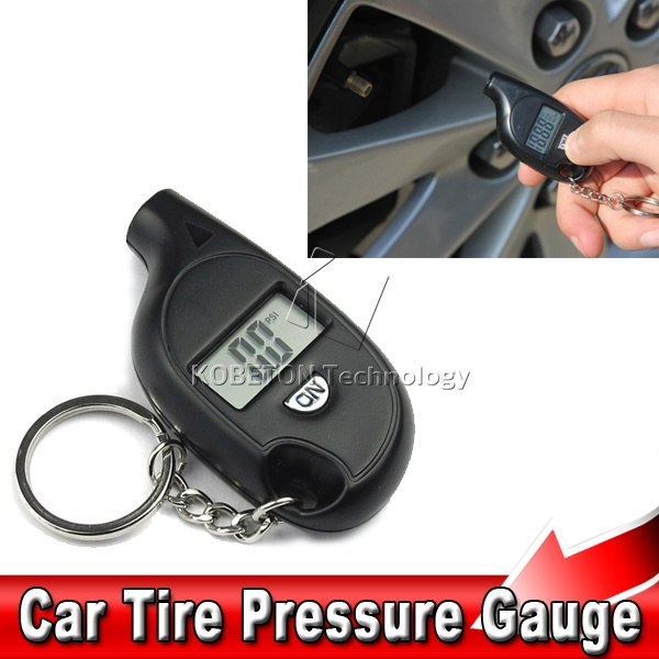 High Precision Keychain Tyre Gauge Mini Digital LCD Display Tire Pressure Vacuum Tester for Car Auto Motorcycle(China (Mainland))