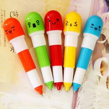 36F 1 Pcs Novelty Stationery Cute Kawaii Pill Ballpoint Pen Lovely Telescopic Vitamin Capsule Ball Pens School Child Gift(China (Mainland))