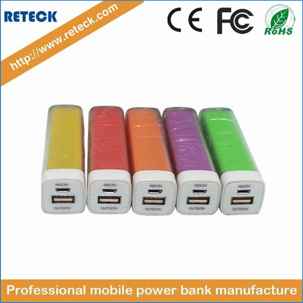Factory Outlets best power bank 2600mah powerbank 2600mah portable power bank lipstick style(China (Mainland))