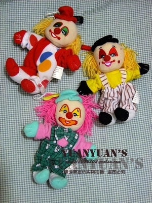 Antique old goods large super adorable funny clown plush doll hair color sucker Pendant Home Furnishing Decor(China (Mainland))