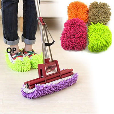 Free Shipping Dust Cleaner House Bathroom Floor Cleaning Mop Cleaner Slipper Lazy Shoes Cover FZ1000(China (Mainland))