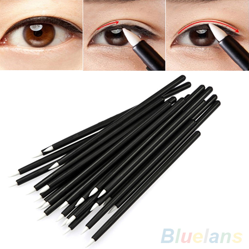50Pcs Cosmetic Makeup Tool Disposable Eyeliner Liquid Wand Applicator Brush 4QT8