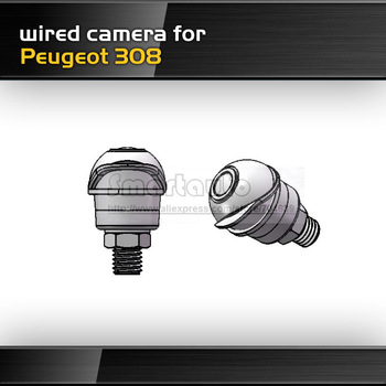 Wholesale wireless and wired For Peugeot 308 HD CCD Pixel 728*582 170 degree angle reversing Car rearview parking camera