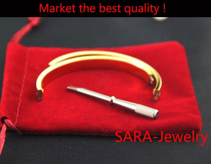 HOT design Pulseiras Love Bracelet With Screwdriver Bracelet Femme For Women Men Wristband Carter Rose Gold Bangle Screw Bracele(China (Mainland))