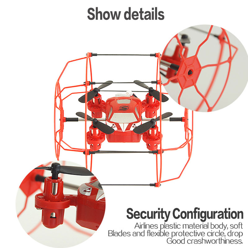 FY802 4CH 6 Axis Gyro Remote Control Quadcopter Wall Climbing Drone RTF