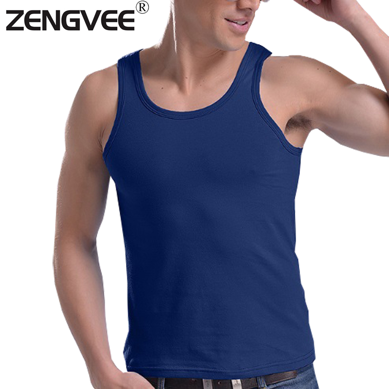 2016 New Men Tank Tops Quality Vest Undershirts Cotton Underwear Tanks 7 color for Choice-Free Shipping