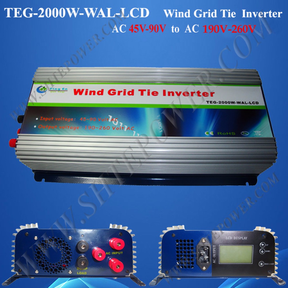 2000W Wind Power Grid Tie Inverter,grid tie inverter,power inverter (TEG-2000W-WAL-LCD) MPPT Function(China (Mainland))