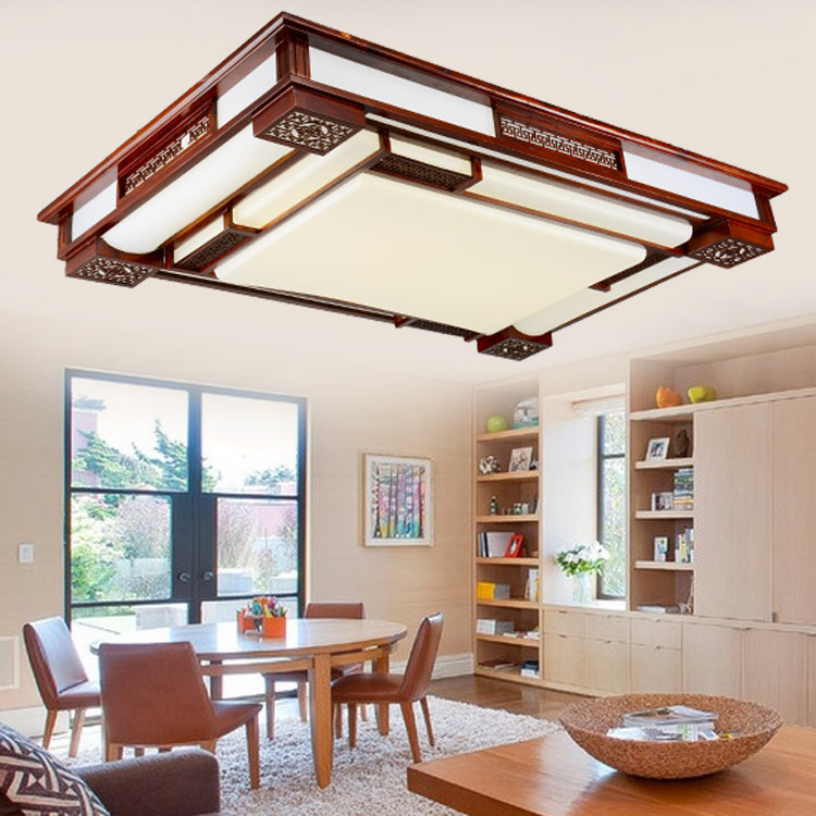 New modern Chinese lamps Ceiling lights LED acrylic antique wood living room dining room light fixtures Lighting(China (Mainland))