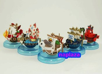 One piece anime Super Ship Boat figures set 5 pcs  free shipping