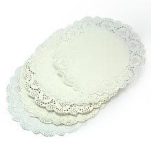 50Pcs Cute Round Mat Lace Paper Drink Coaster Placemat Doilies Craft Cake Wedding Party Decoration New Kitchen Accessories