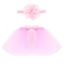 Pettiskirt Newborn Photography Props Infant Costume Outfit Princess Tutu Skirt Matching Headband New Baby Photo Props Design(China (Mainland))
