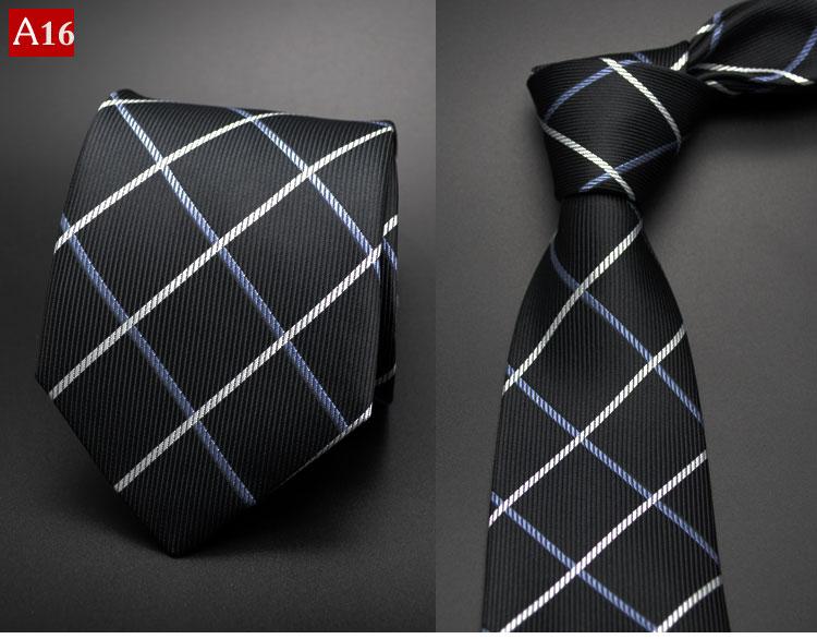 Fashion Hand Tie 8cm Formal Suit Business Wear Necktie Meeting Interview Office Wedding Men s Groom