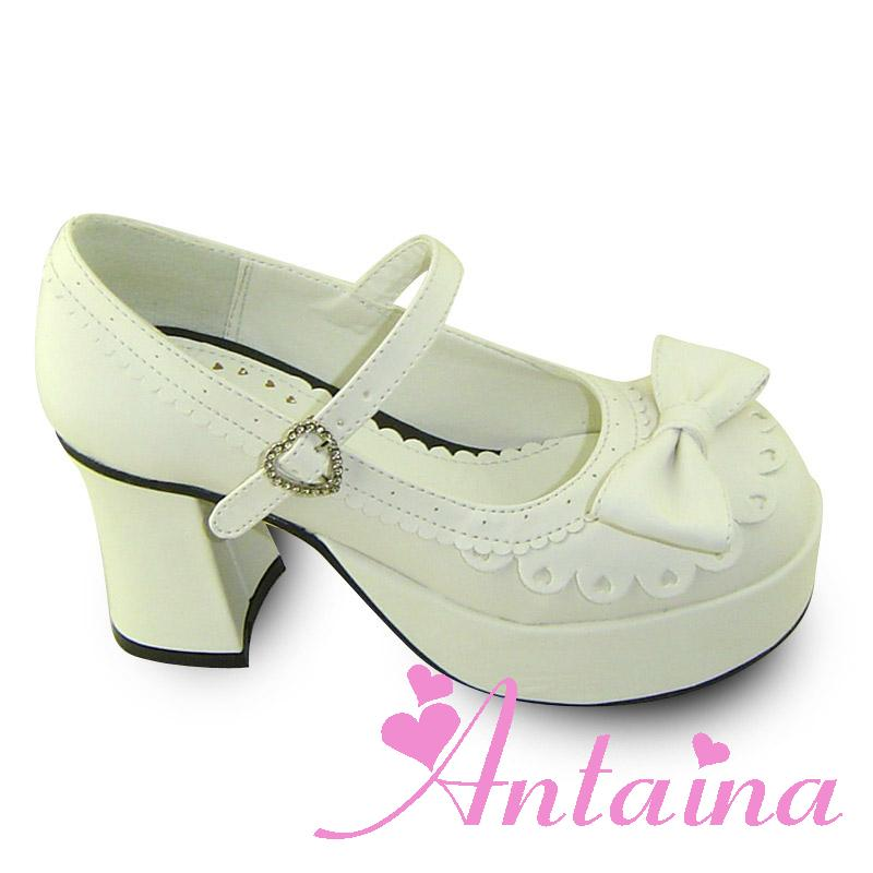 Фотография Princess sweet lolita gothic lolita shoes custom  lolita princess one strap high-heeled shoes white 8007  pumps