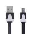 Hot 1m Noodle Micro USB Data Sync Charger Micro USB Cable for Samsung S5 S6 S7