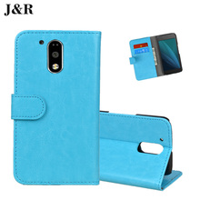 J&R Brand Wallet Style PU Leather Case moto g4 plus Phone Cover MOTO G4 Stand Function Card Holder - Shenzhen Fdt technology company.,Ltd store