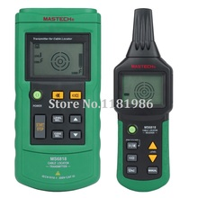 Mastech MS6818 Portable Professional Wire Cable Tracker Metal Pipe Locator Detector Tester Line Tracker Voltage12~400V(China (Mainland))