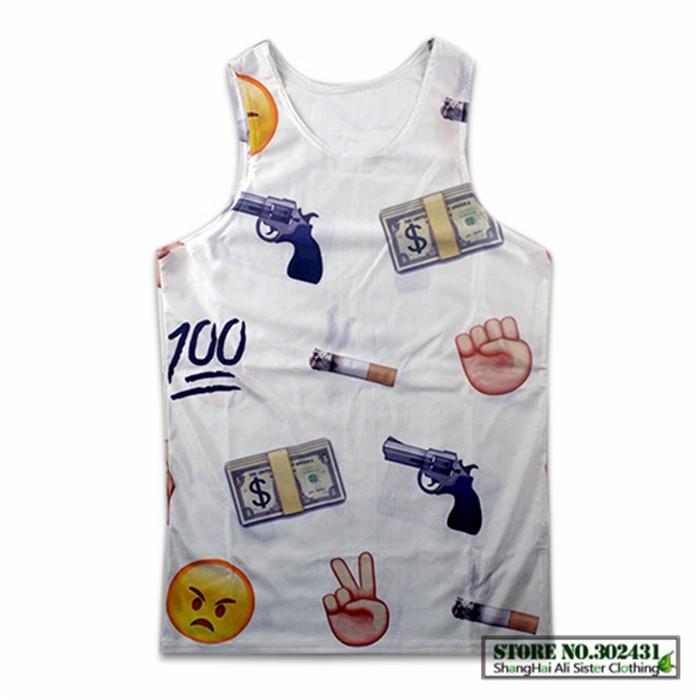 Новая мода мультфильм pikachu/emoji/конопли сорняков лист/Тупака 2pac топы мужчин/женщин 3d без рукавов футболки случайных жилет рубашку одежда