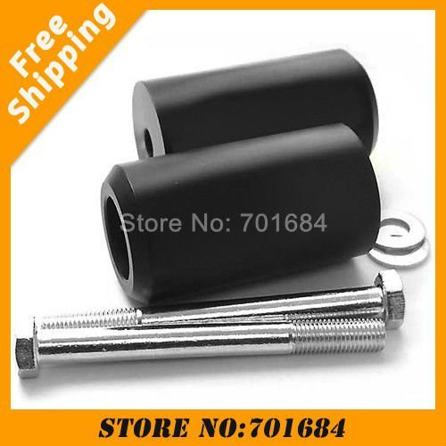 Carbon Black For 91-98 Honda CBR 600 F2 F3 Motorcycle Frame Sliders New Pair Free Shipping [P369]