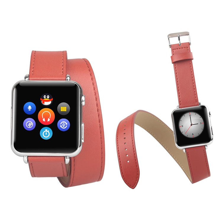 Y6s Leather long strap Smart Watch HD Display Capacitive Screen Independent Working Unlock Wear Cell Phone best gfit fo rwoman(China (Mainland))