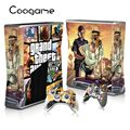 Fresh GTA 5 Custom Sticker For Microsoft Xbox 360 Slim Console 2 Pads For Xbox360 Slim