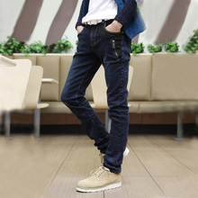 New arrival 2013 men's clothing trousers slim pencil pants elastic male jeans(China (Mainland))