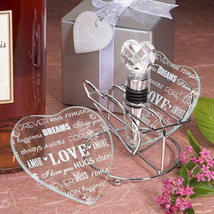 Transprent Heart Love Letters Design 2015 New Wedding Gifts Glass Cup mat 2pcs in one package wedding souvenir Party Favor(China (Mainland))