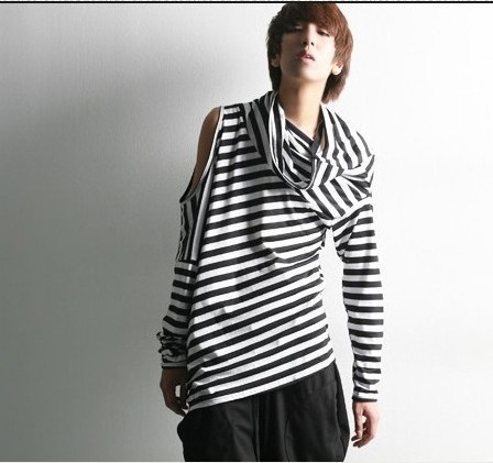 Buy black and white stripe long sleeve for Long sleeve black turtleneck shirt