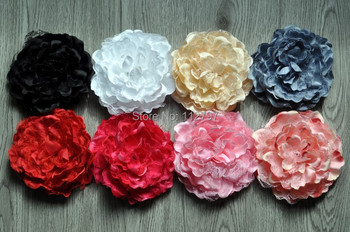 """Trial order  5.5"""" Large Laced Peony Flowers Silk Peony Flowers Brooch Hair Pin   30PCS/LOT By Sunshinefield"""