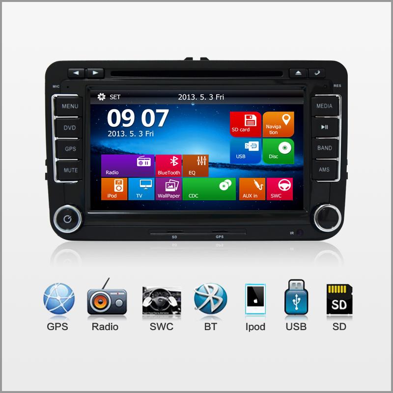 2 din Car DVD Radio pc GPS HD For VW Skoda POLO GOLF 5 6 PASSAT CC JETTA TIGUAN TOURAN Fabia Caddy elm327 camera DVBT ISDB(China (Mainland))