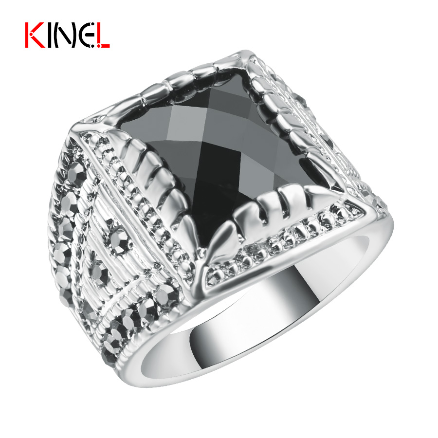 Fashion Vintage Punk Rings For Women And Men Antique Silver Steampunk Rock  Jewelry Christmas Gift All