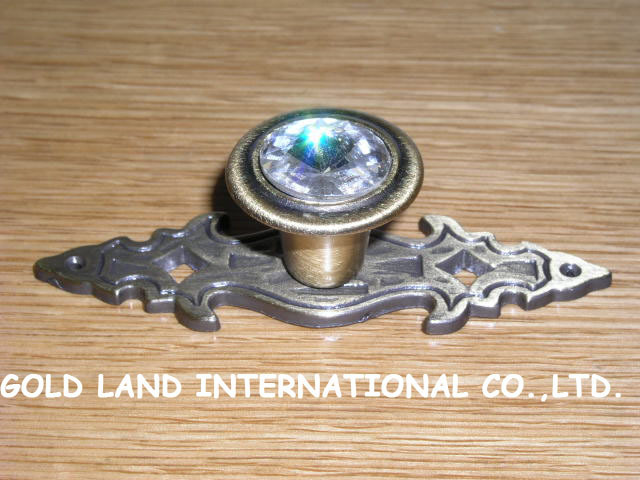L84mm Free shipping K9 crystal glass drawer pull /furniture kitchen cabinet handle