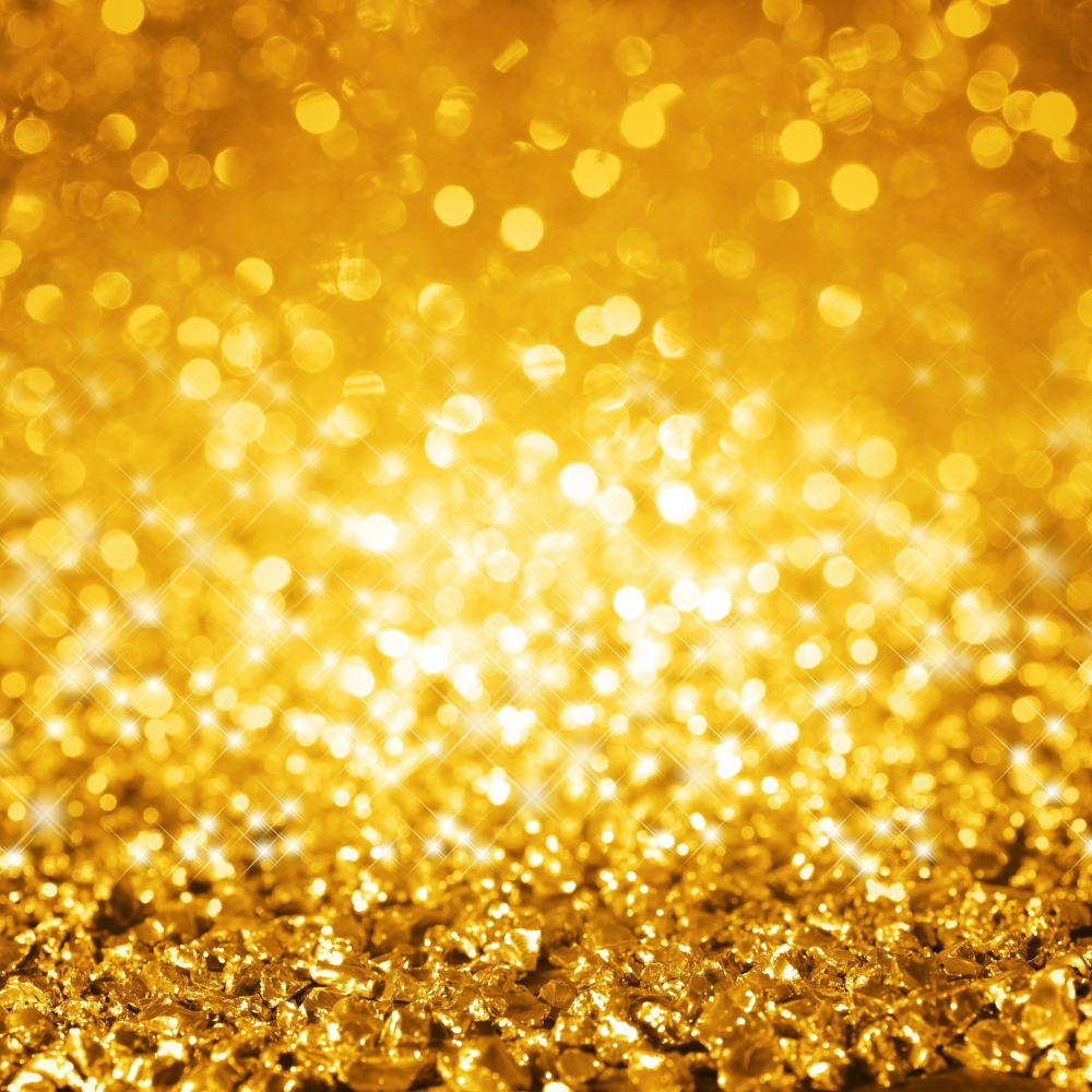 send rolled ! 8x8  Gold Glitter Backdrop - sequin, Christmas sparkle, holiday party twinkle - Printed Fabric Background G0604<br><br>Aliexpress