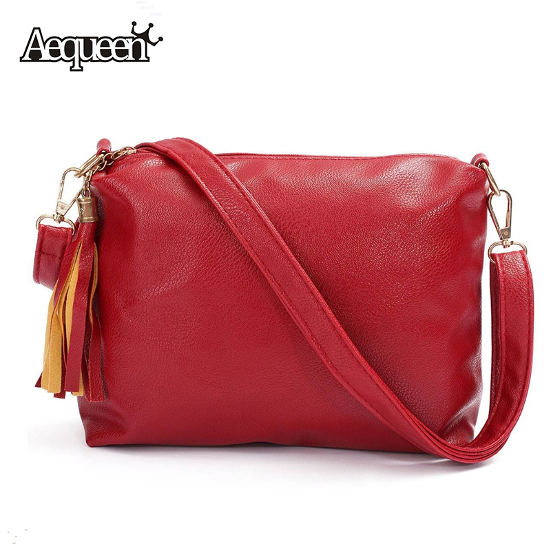 Fashion Women Shoulder Bag Girls Flap Tassel Lady Messenger Satchel Solid Versatile Crossbody Bags Classical Design 5 Colors New(China (Mainland))