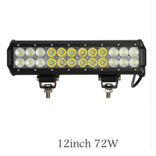 Straight 72W 3D Offroad Spot Flood Combo Beam LED Light Bar For Driving Tractor Trailer 4x4