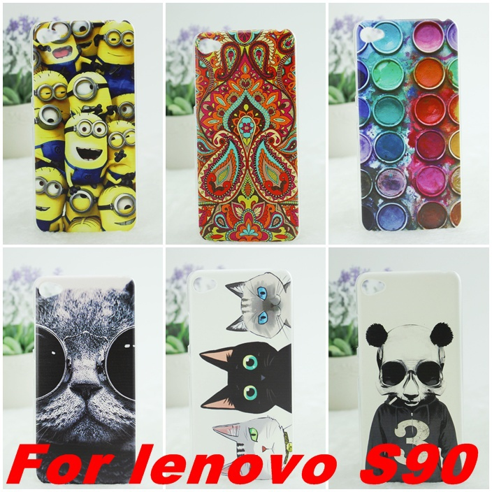 new for lenovo S90 Case Cute Cartoon Colored Drawing Hard Plastic For Lenovo S90 Cell Phone Cover Free Shipping(China (Mainland))