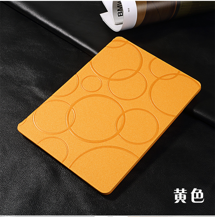 Fashion Solid Color Youth Bubble Pattern Slim PU Leather Stand Smart Case Cover for iPad 2 3 4 Gen Case Cover(China (Mainland))