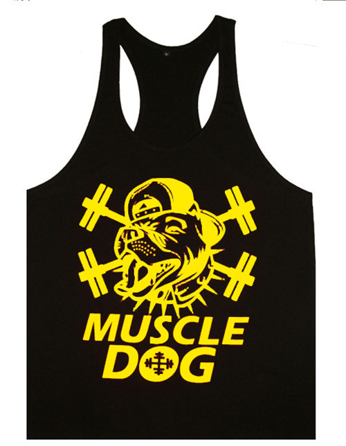 Mens sexy cotton gym tank top men Sleeveless Shirt bodybuilding Sport vest fitness Big Size Fit 100KG shirt muscle loose 2015(China (Mainland))