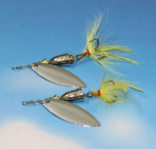 Buy 2Pcs Metal Spoon Fishing Lures Spinner Bait 6g 6.5cm Feather Crankbait Bass Fishing Tackle Hook for $1.18 in AliExpress store