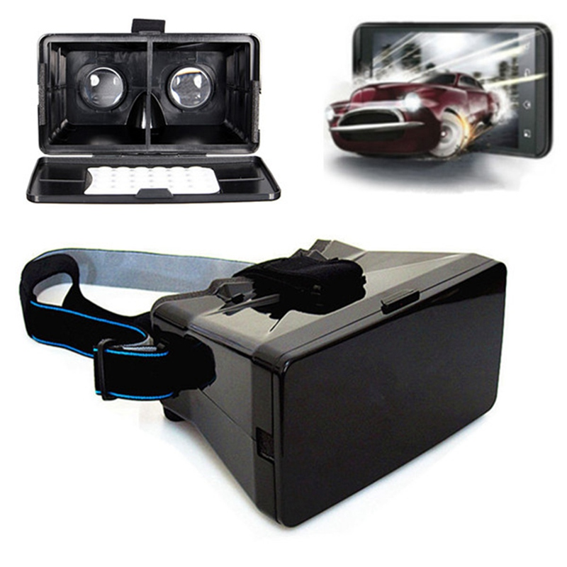 Best Price Black Universal Virtual Reality 3D Video Glasses for 3.5 to 5.6 inch Phones Google Cardboard Movie Cinema Convenient(China (Mainland))