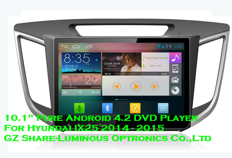 10.1 Inch Pure Android 4.2 Full Touch Screen Car Computer Dvd Player For Hyundai IX25 Network Wifi Hotpot Mirror Link DVR(China (Mainland))