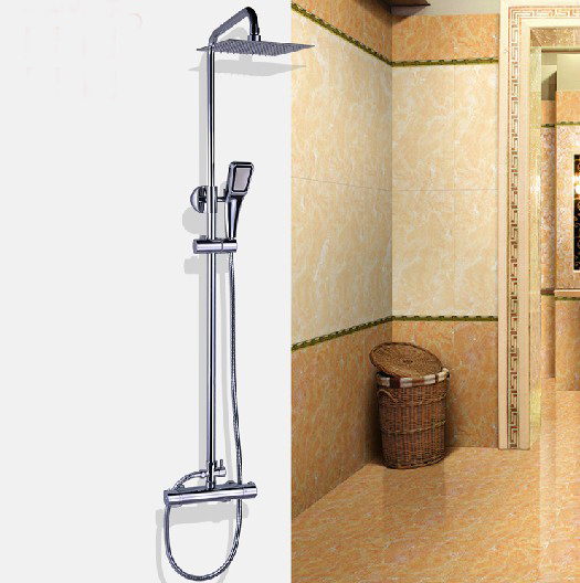 Bathroom Thermostatic Shower Set Faucet Hand Shower Stainless Steel Showerhead(China (Mainland))