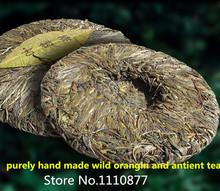 Made in1945handmade raw puer tea 357g oldest pu er tea ansestor antique honey sweet well stacked