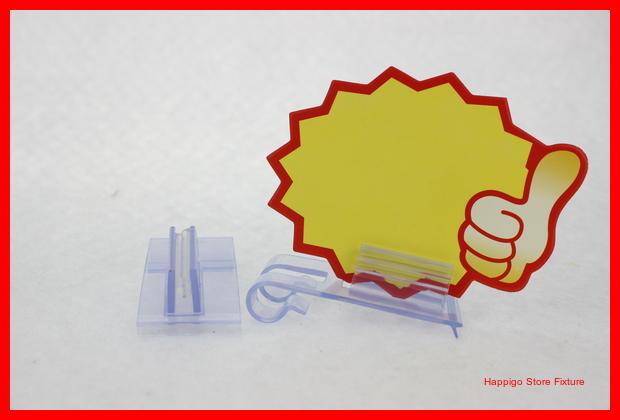 Custom PVC soft hard shelf data strip hook grip clip POP label holder suppermarket shelf promotion sign snap(China (Mainland))