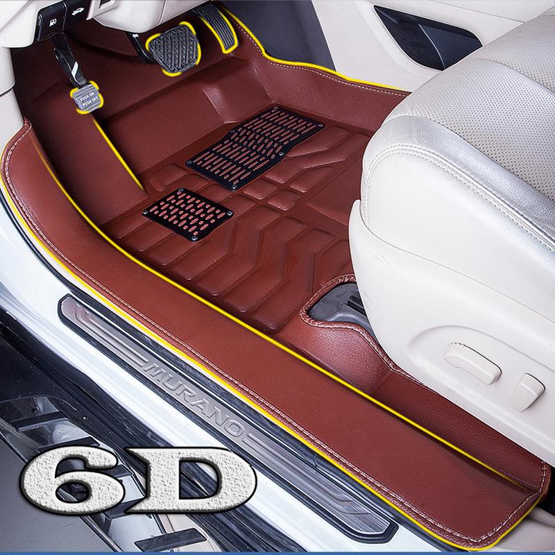 Custom fit 6D car floor mats for Ford Focus Escort Titanium Mondeo Fiesta Raptor Cobra Ecosport Kuga Tunland Eoge car-styling(China (Mainland))